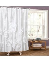 Lush Shower Curtains Amazing Deal On Lush Decor Serena Shower Curtain White