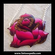 roses with cheetah print tattoos