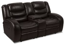home theater loveseat angus leather look fabric reclining loveseat u2013 dark brown the brick