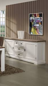 Buffet bahut contemporain 190 cm 2 portes 4 tiroirs coloris havana