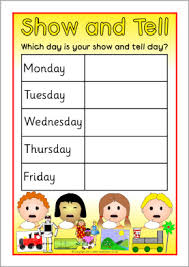 show and tell weekly editable timetable posters sb5321 sparklebox
