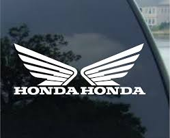 honda motorcycle logos amazon com honda wing set of 2 decal sticker white automotive