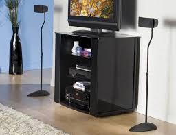 sanus adjustable height satellite speaker stands pair
