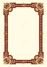 ornamental border frame vintage in editable vector file royalty