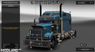kenwood w900 kenworth w900b long mod for ets 2