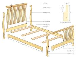Pine Sleigh Bed Frame Sleigh Bed Canadian Woodworking Magazine