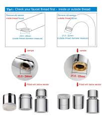 waternymph hibbent dual function 2 flow faucet spray head aerator