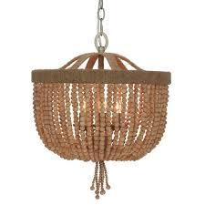 bead chandelier crystorama crystorama 3 light jute thread bead chandelier