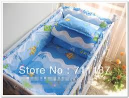 Girls Ocean Bedding cute girls ocean bedding set 100 cotton 12 pcs blue crib bed
