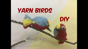 how to create a cute birds with yarn thread diy craft home