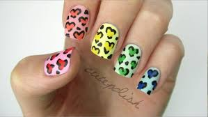 animal print nail art in pastel colors nail art designs u0026 diy