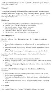Resume Templates For Marketing Marketing Resume Templates To Impress Any Employer Livecareer
