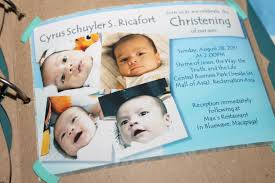 Sample Of Invitation Card For Christening Invitation Layout For Christening Alesi Info