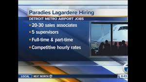Detroit Airport Terminal Map Paradies Lagardere Which Operates Shops At Dtw Is Hiring 20 To