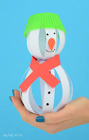 cotton ball snowman craft easy peasy fun