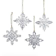 snowflake ornaments kurt adler snowflake christmas ornaments 4 assorted