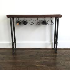wine rack console table the reserve wine rack console table reclaimed by arcandtimber arc