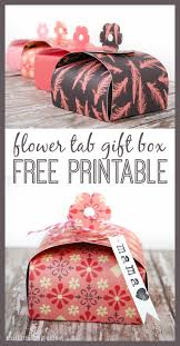 create your own flower tab gift boxes out of paper free printable