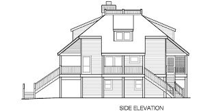 house plans with observation room lookout cottage piling foundation 1875 sf southern cottages