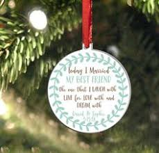 our first married christmas ornament mr and mrs personalized