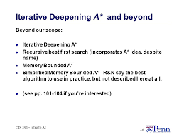 391 best the informed search ii cis 391 fall cis intro to ai 2 outline part i