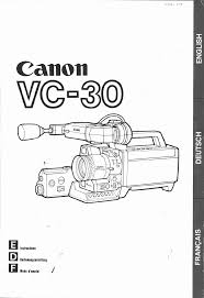 canon camcorder vc 30 user guide manualsonline com