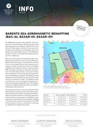 barent sea aeromagnetic remapping bas 06 basar 08 basar 09 by