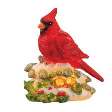 cardinal lighted christmas decorations