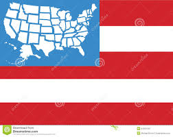50 State Map Usa Flag Map 50 States As Stars Stock Vector Image 44507040