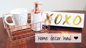 Rose Home Decor by Rose Gold Copper Collective Home Decor Haul Vday 2017