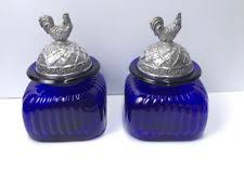 blue kitchen canisters artland glass kitchen canisters jars ebay