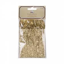 gold glitter ribbon donner and blitzen 50 ct gold glitter ribbon ornament hangers