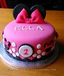 cool homemade minnie mouse cake tortilla y postres
