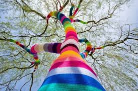 yarn bombing the knit graffiti movement apartment therapy
