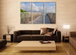 miami sandy beach canvas print 3 panels print wall decor fine art