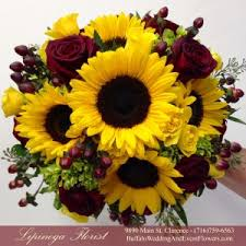 Sunflower Wedding Bouquet Bridal Bouquets Buffalo Wedding U0026 Event Flowers By Lipinoga Florist