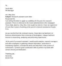 25 marvellous cover letter examples research assistant resume uk