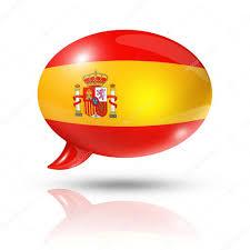 spanish flag speech bubble u2014 stock photo daboost 13461424