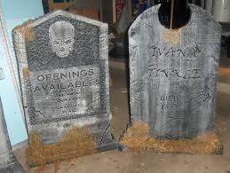 Halloween Home Decor Catalogs by Staging Halloween Tombstones And Other Props Youtube