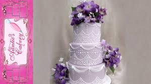 cornelli lace wedding cake royal icing youtube