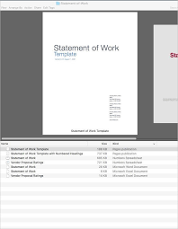 statement of work word template statement of work template best
