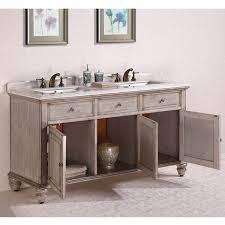 White Double Sink Bathroom Vanities by Antique Legion 67 Inch Antique White Double Sink Bathroom Vanity