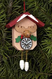 tree ornament cuckoo clock with moose 6 4 6 5 cm 2 5 2 5in by
