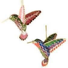 cloisonné hummingbird suncatcher ornament enameled by the