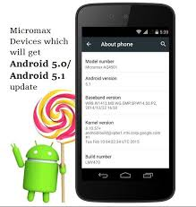 android 5 0 and 5 1 lollipop update for micromax phones updated