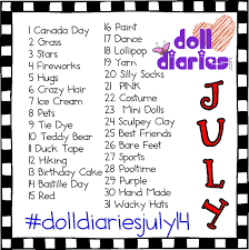 Challenge How Do U Do It Doll Diaries July Instagram Challenge Doll Diaries