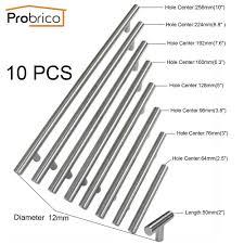 probrico 10 pcs stainless steel kitchen cabinet knob 50mm 256mm