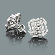 diamond stud earings designer diamond stud earrings 0 54ct 14k gold