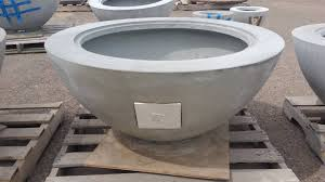 large concrete planter large concrete planter wood burning fire pit accent pot