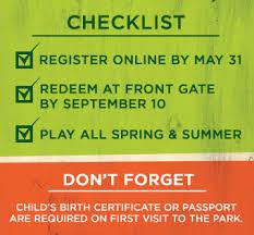 Busch Gardens Williamsburg Fall Fun Card - 2 park preschool pass busch gardens williamsburg